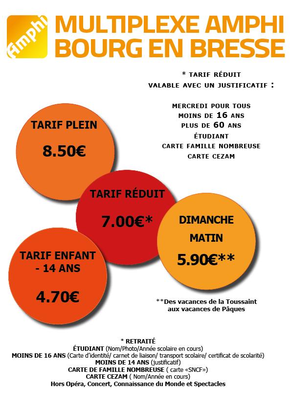 Carte Cezam Ticket Cinema.Les Tarifs Du Cinema Bourg En Bresse Multiplexe Amphi
