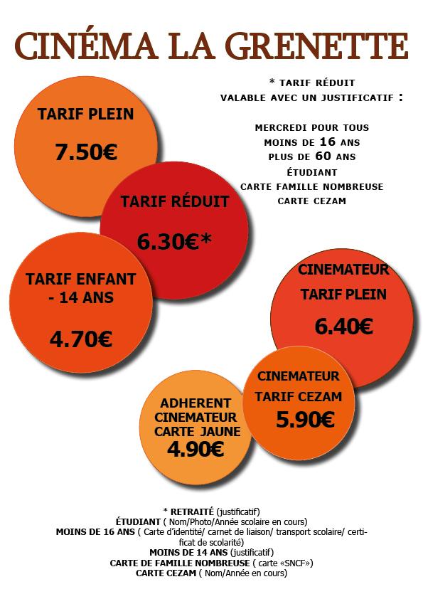 Carte Cezam Ticket Cinema.Les Tarifs Du Cinema Bourg En Bresse La Grenette
